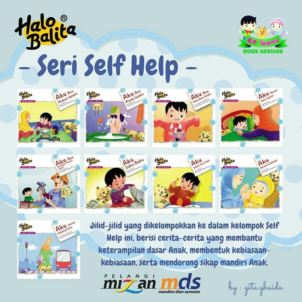 buku halo balita seri self help (kemandirian)