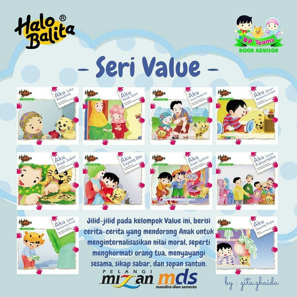 buku halo balita seri value (nilai moral dasar)